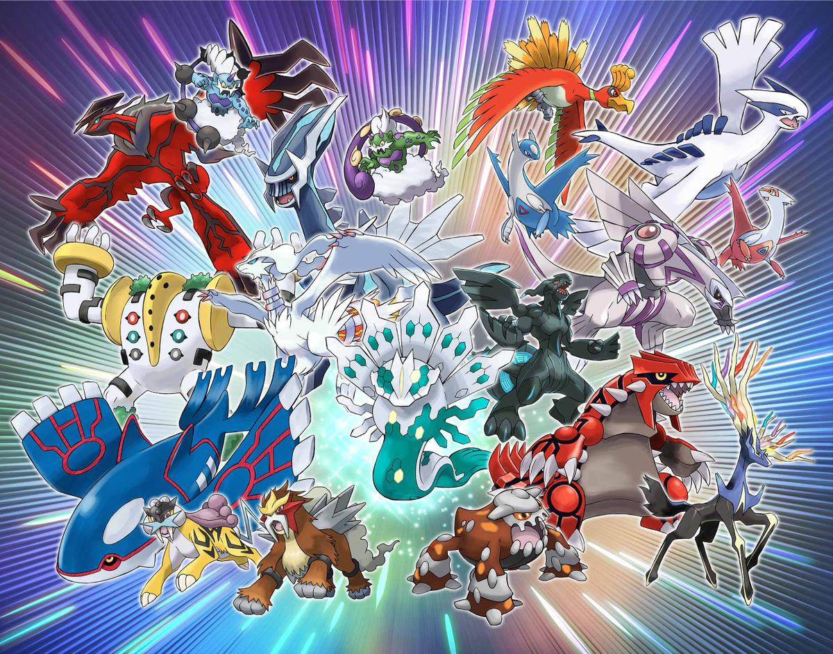 Legendary Pokemon artwork