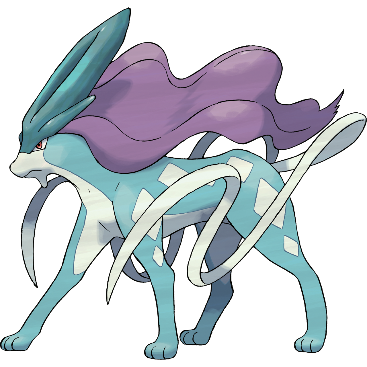 Official Suicune art