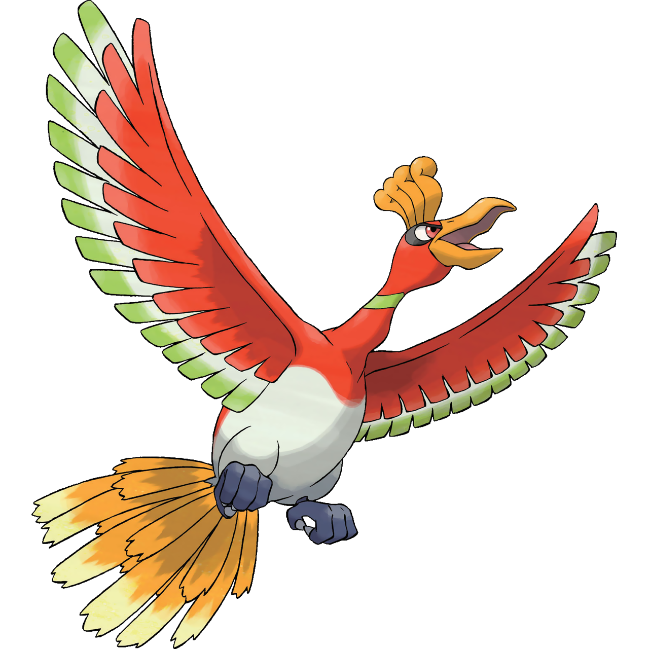 Official Ho-Oh art